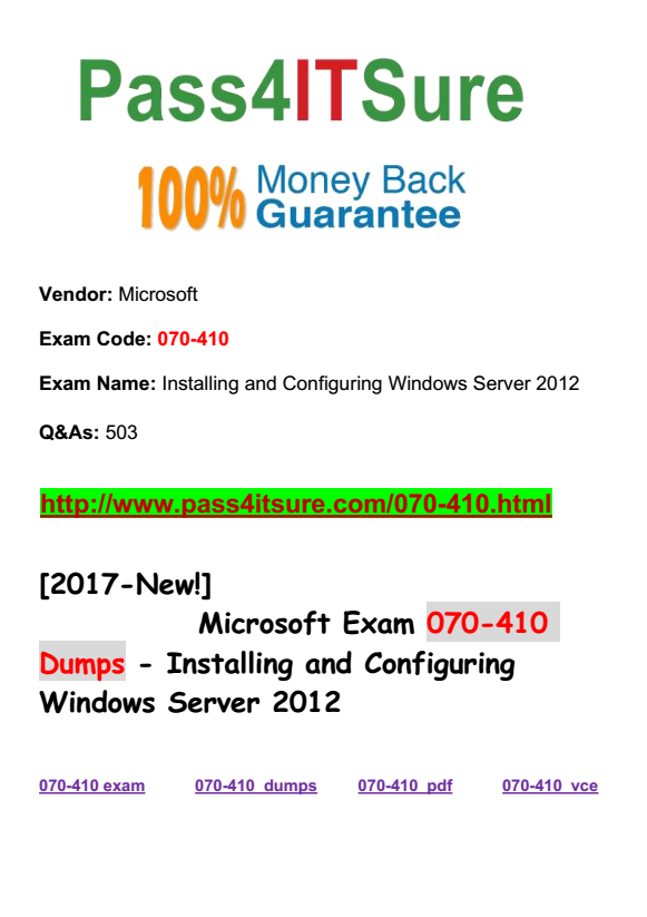 Hottest Microsoft Questions New Updated Microsoft Windows 070 410